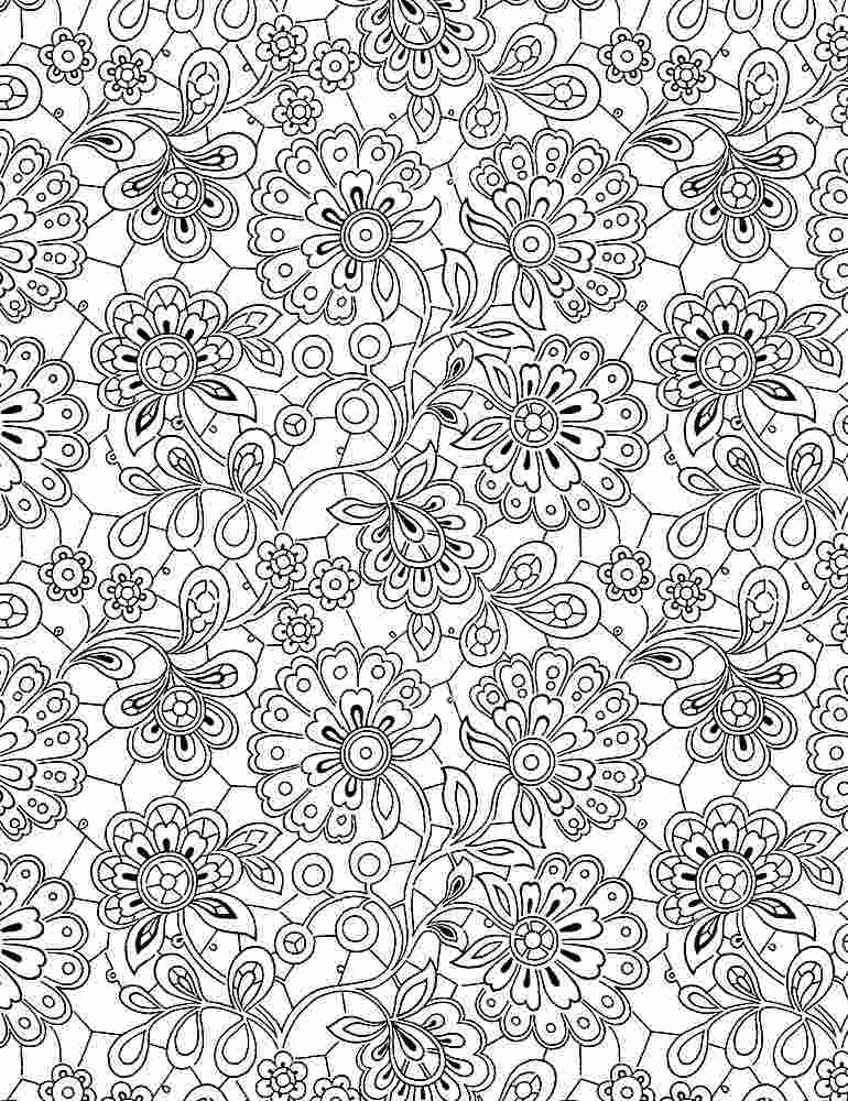 INK-C8734 / WHITE / PAISLEY DOODLES