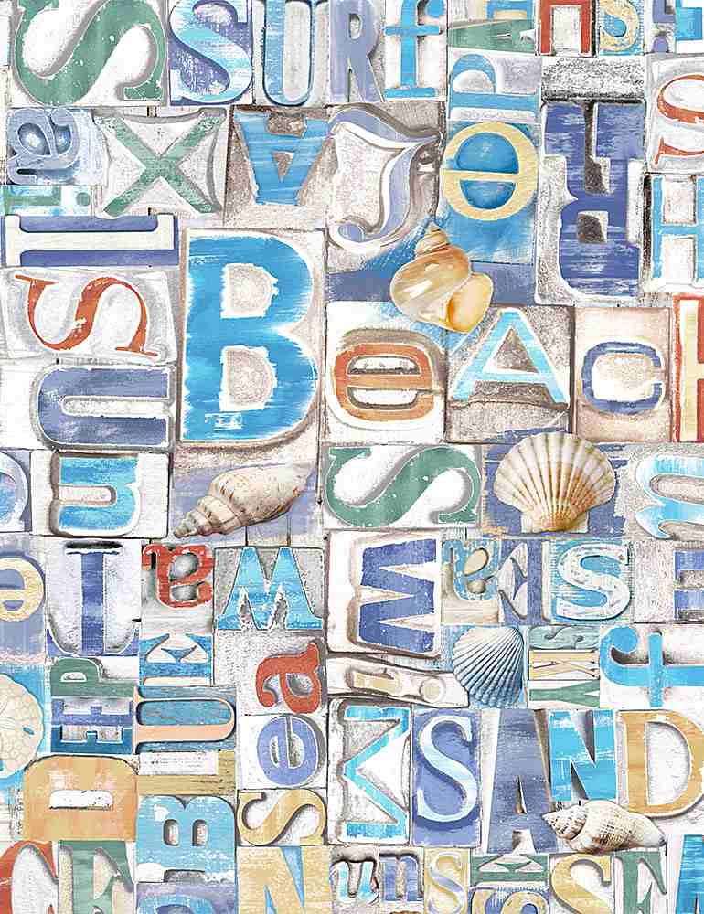 BEACH-C8459/MULTI / BEACHYWORDSONWOOD