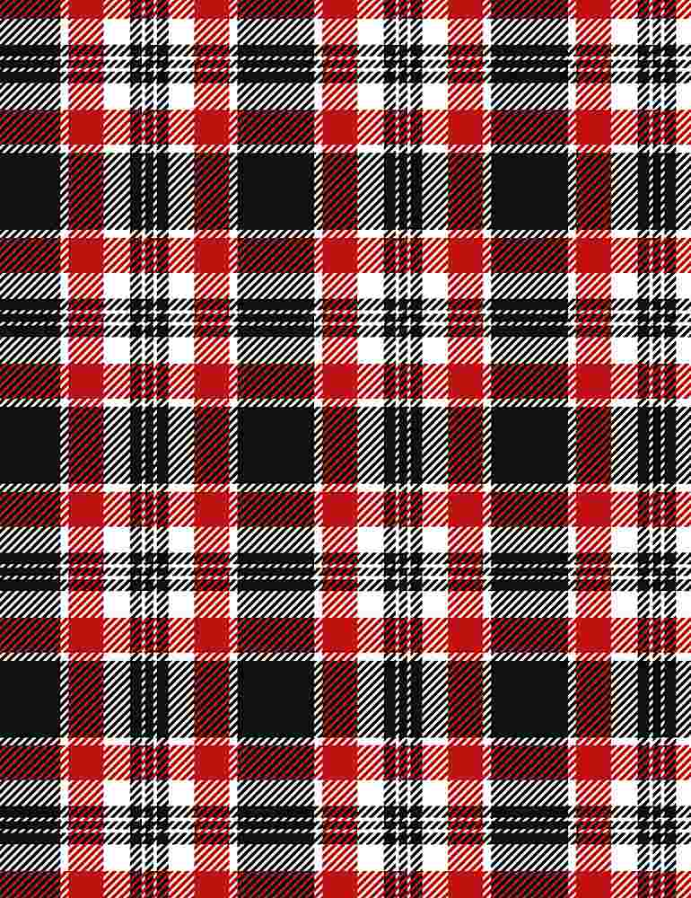 WSOFTIEG-PD8469 / RED / SILENT NIGHT HOLIDAY PLAID