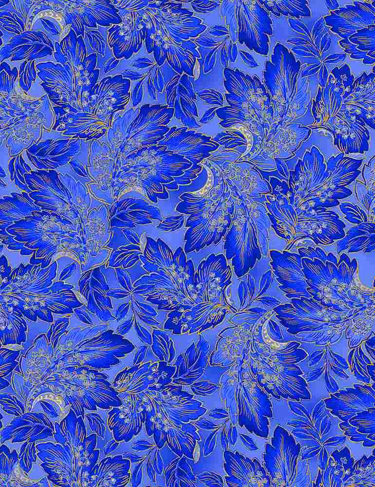 FLEUR-CM1006/BLUE / SAPPHIREMETALLICLEAVES