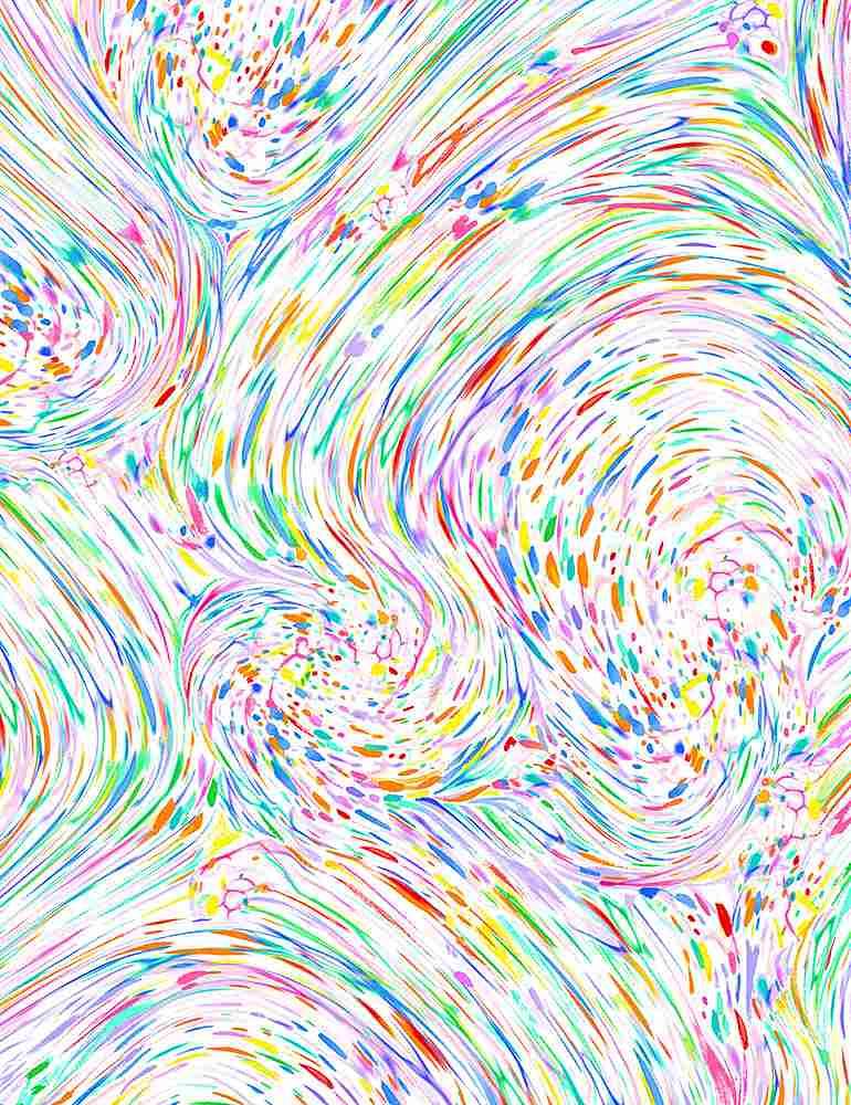 FLORA-CD8951/WHITE / RAINBOWSPLATTERSWIRLS