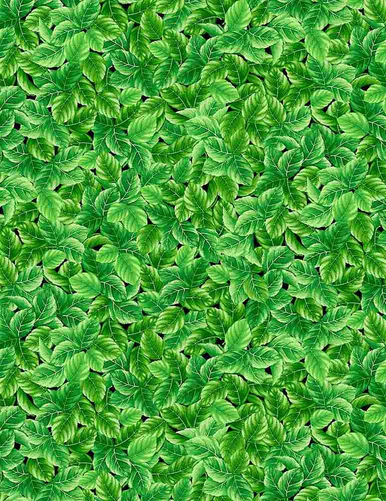 FLEUR-C1051/GREEN / PACKEDSTRAWBERRYLEAVES
