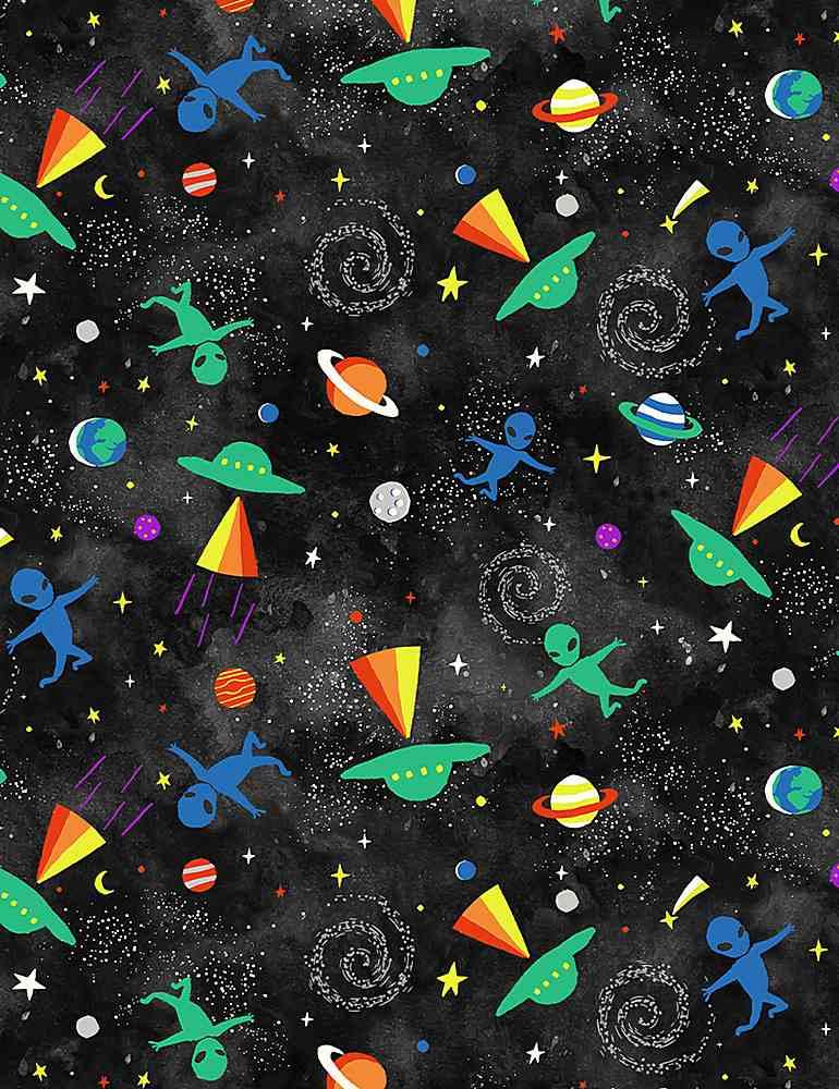 SPACE-CD1152/BLACK / TOSSEDALIENSANDUFOS
