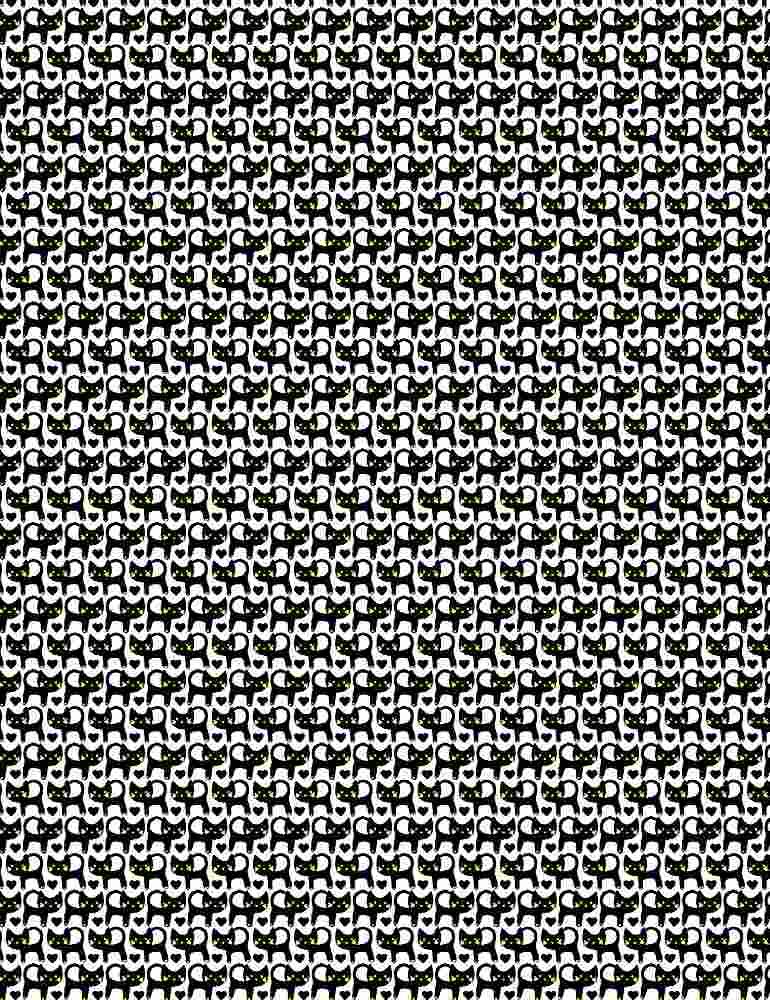 TRIO-C1270/WHITE / BLACKCATSWITHYELLOWEYES