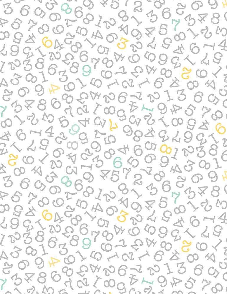 KIDZ-CD1311/WHITE / TOSSEDNUMBERS