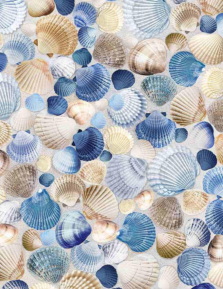 BEACH-C1236/BLUE / PACKEDBLUESEASHELLS