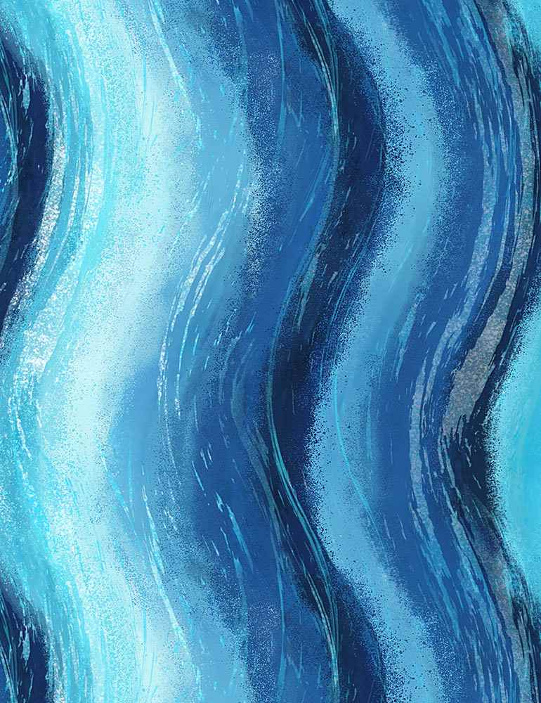 STRIPE-C1239/BLUE / WAVYABSTRACTBEACHDREAMSSTRIPE