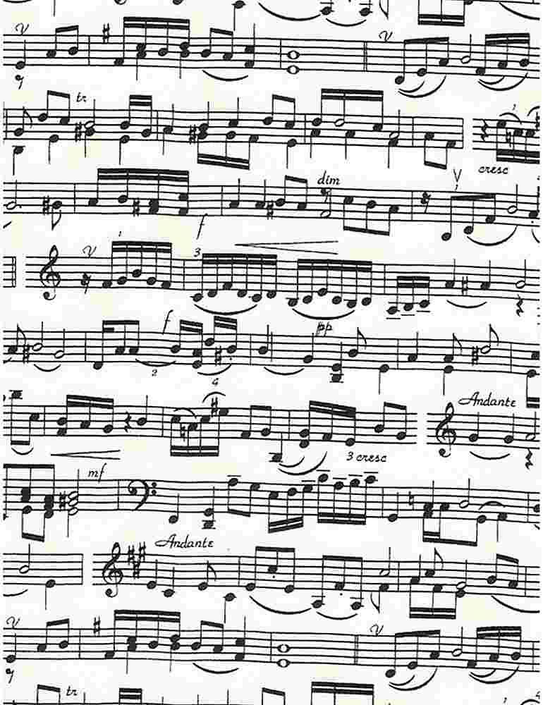 MUSIC-C1693/CREAM / STAFFLINESANDNOTE